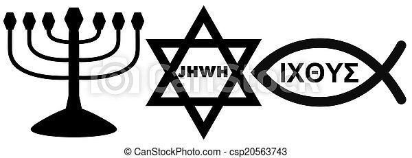 religious symbols - csp20563743