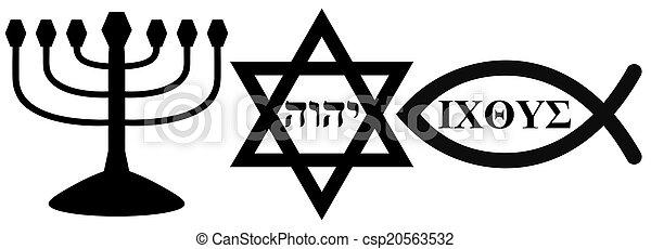 religious symbols - csp20563532