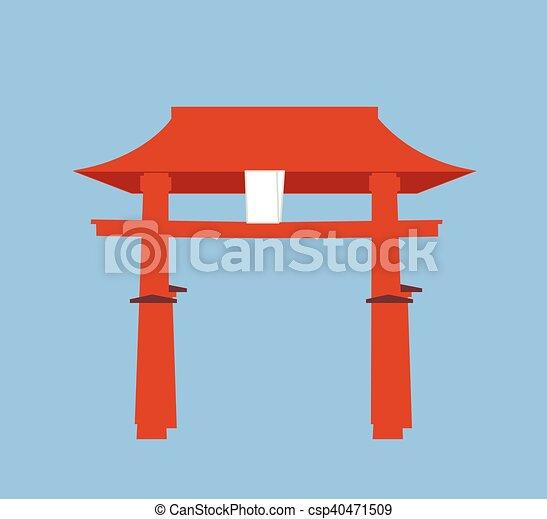 Religious Torii Gate - csp40471509