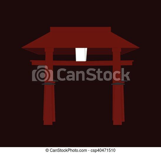 Religious Torii Gate Vector - csp40471510