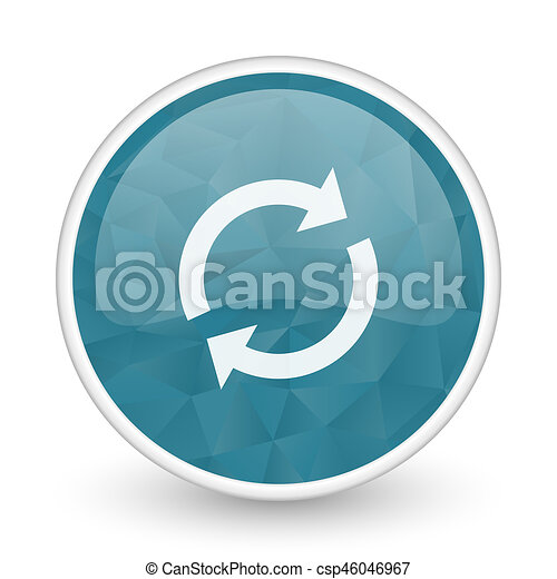 Reload brillant crystal design round blue web icon. - csp46046967