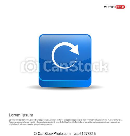 Reload Icon - 3d Blue Button - csp61273315