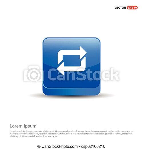 Reload Icon - 3d Blue Button - csp62100210