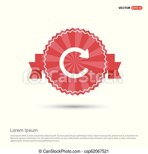 Reload icon - Red Ribbon banner - csp62067521