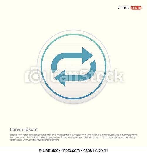 Reload Icon - white circle button - csp61273941