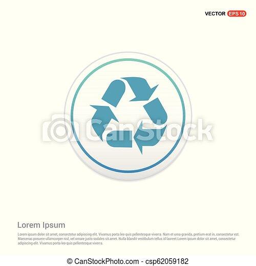 Reload Icon - white circle button - csp62059182