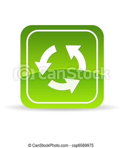 Un icono de recarga verde - csp6569975