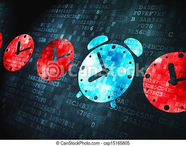 Concepto de tiempo: despertador de fondo digital - csp15165605