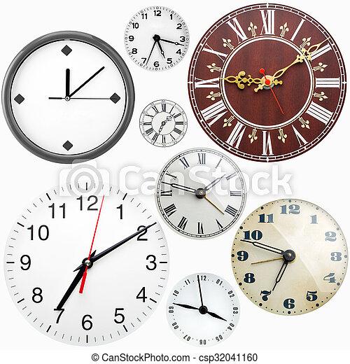 Caras de reloj - csp32041160