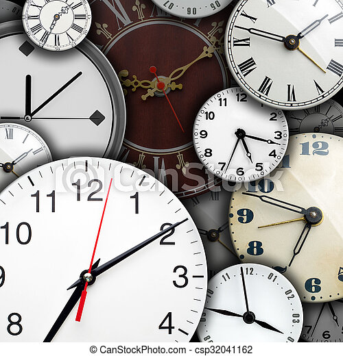 Caras de reloj - csp32041162