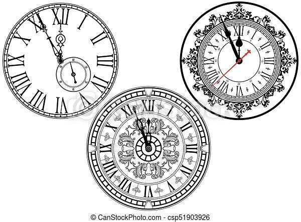 Colección de cara de reloj - csp51903926