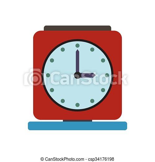 Una antigua alarma de icono plano - csp34176198