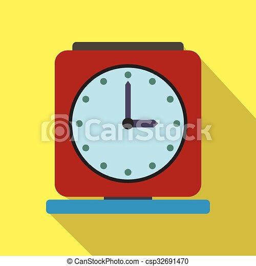 Una antigua alarma de icono plano - csp32691470