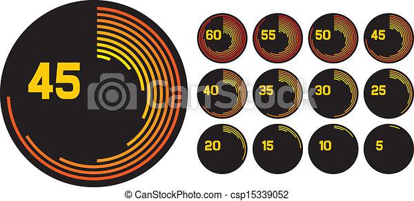 Íconos del reloj - csp15339052