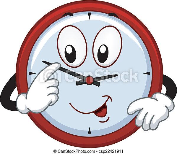 La mascota del reloj - csp22421911