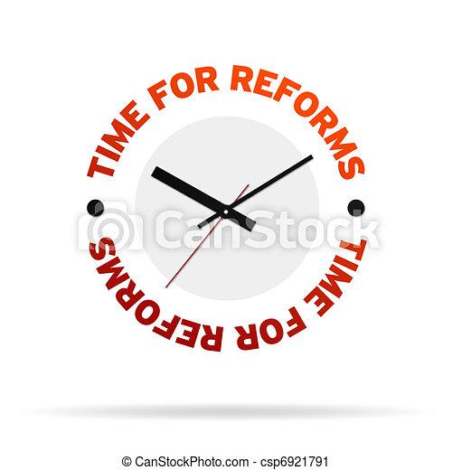 reloj, tiempo, reforms - csp6921791