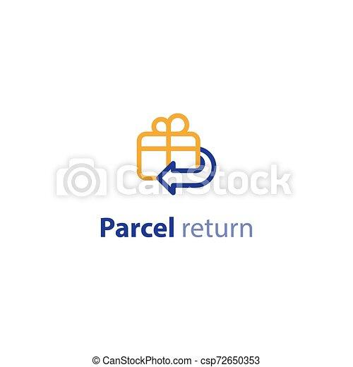 remboursement, retour, paquet, options, expédition, services, expédition - csp72650353