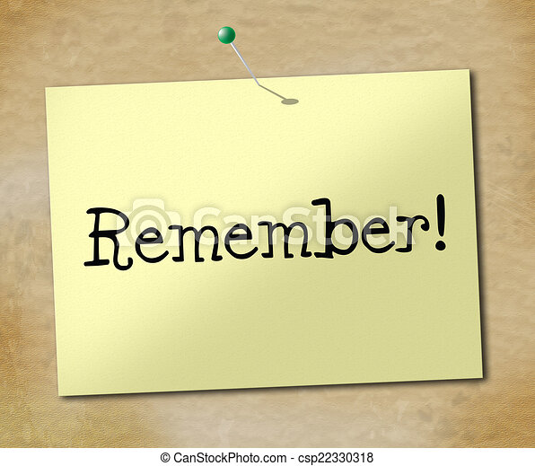 b078f745e83 Remember sign means keep in mind and agenda. Sign remember ...