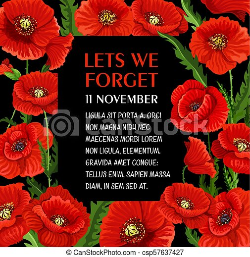 Remembrance day 11 november vector poppy poster remembrance day remembrance day 11 november vector poppy poster mightylinksfo