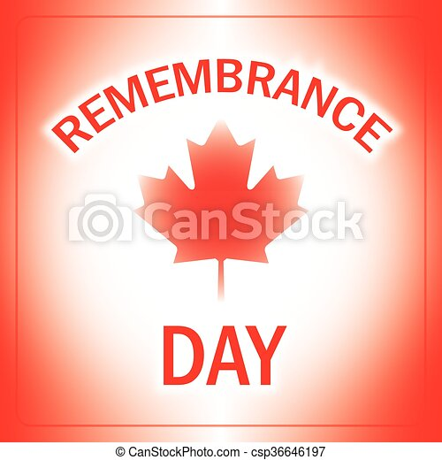 Remembrance Day Canada - csp36646197