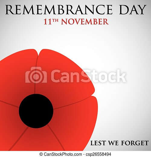 Remembrance Day card in vector format. - csp26558494