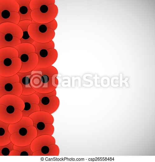 Remembrance Day card in vector format. - csp26558484