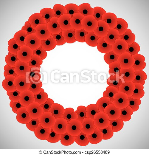 Remembrance Day card in vector format. - csp26558489