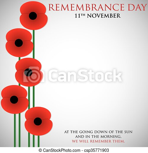 Remembrance Day card in vector format. - csp35771903