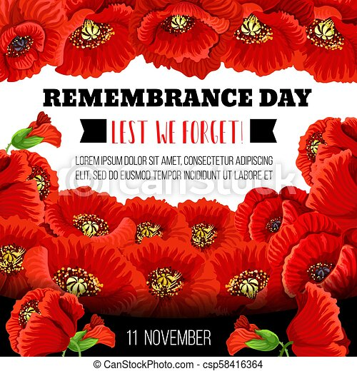 Remembrance day poppy flower memorial wreath card remembrance day remembrance day poppy flower memorial wreath card csp58416364 mightylinksfo