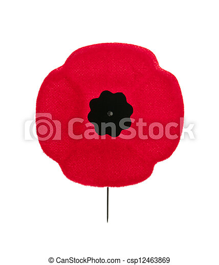 Remembrance Day Poppy Red Poppy Lapel Pin For Remembrance Day