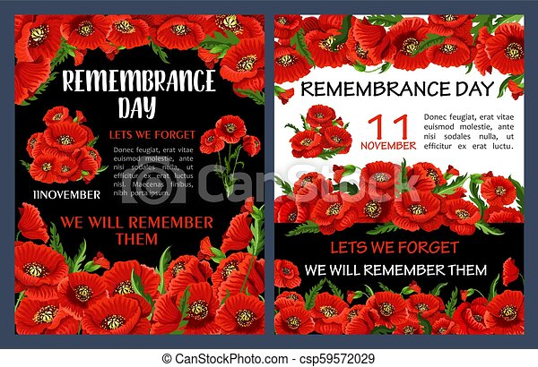 Remembrance day poster with red poppy flower frame lest we forget remembrance day poster with red poppy flower frame csp59572029 mightylinksfo