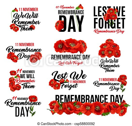 Remembrance Day Red Poppy Flower Icon Design Remembrance Day Poppy