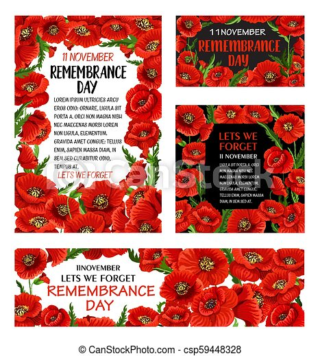 Remembrance day red poppy flower poster design remembrance day red remembrance day red poppy flower poster design csp59448328 mightylinksfo