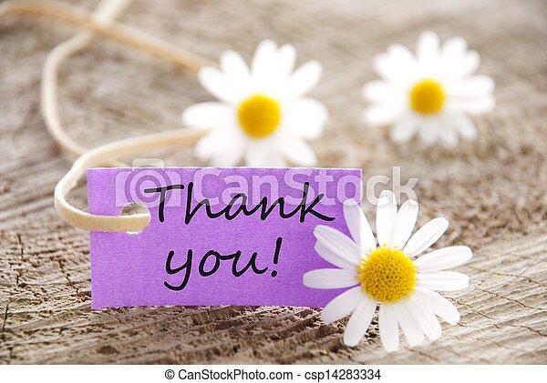 remercier, you!, étiquette - csp14283334