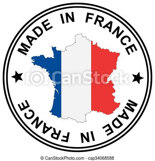 Parche hecho en Francia - csp34068588