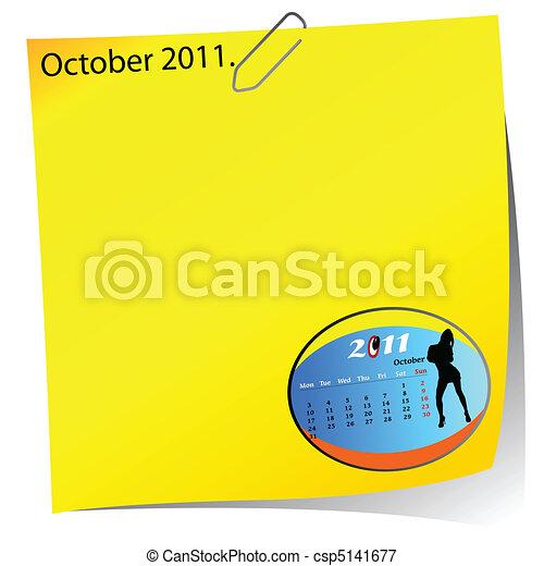 reminder of october 2011 - csp5141677