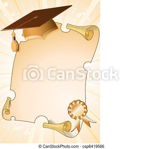 remise de diplomes, fond - csp6419566