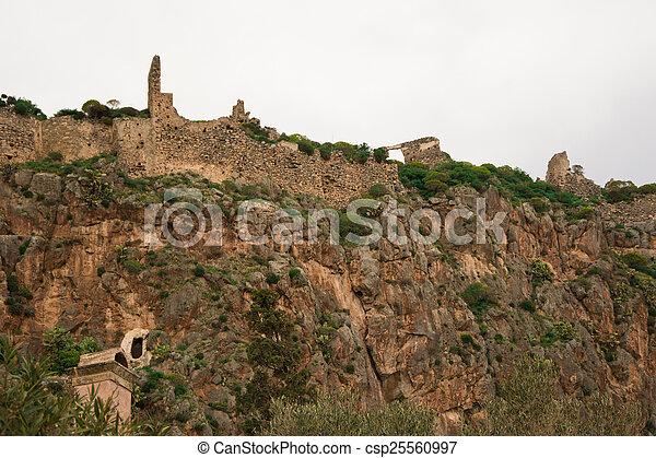 Remnants of the castle of Monemvasia - csp25560997