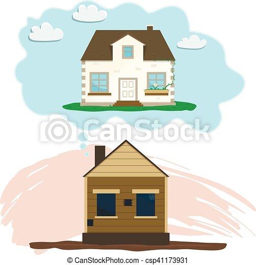 Remodeling house, Old dreams of repair - csp41173931