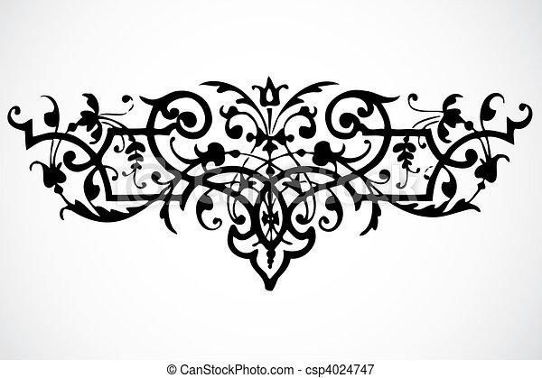 Ornamento de remolino Vector - csp4024747