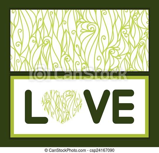 Remolinos abstractos del vector de textura amor texto patrón de texto invitación a la plantilla de tarjetas de felicitación - csp24167090