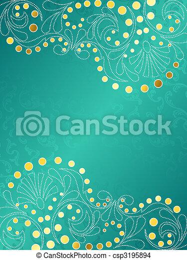Trasfondo turquesa con delicados remolinos, verticales - csp3195894