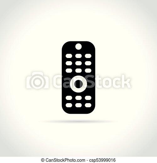 remote control icon on white background - csp53999016