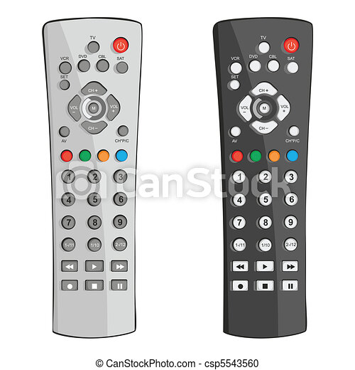 remote control drawing. vector - remote control drawing o