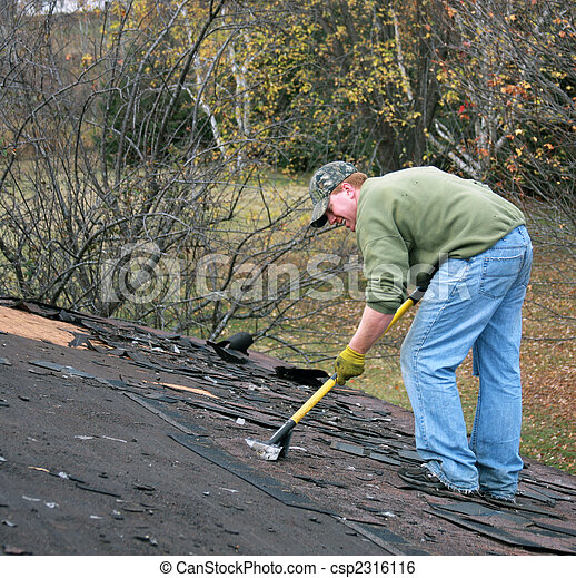removing shingles - csp2316116
