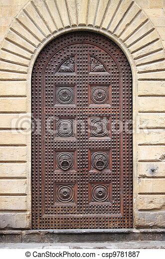 Renaissance front door - csp9781887