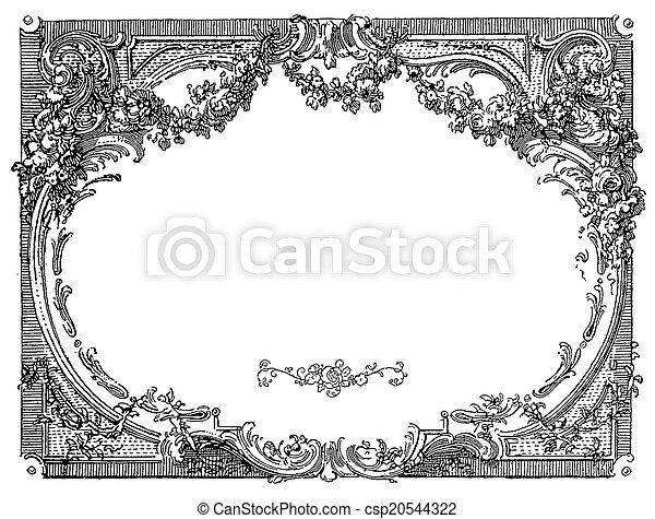 Renaissance ornamental frame - csp20544322