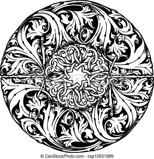 Renaissance seamless pattern - csp10531989
