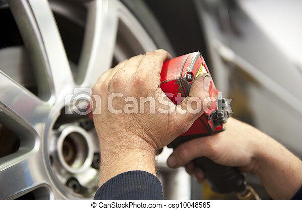 rendbehozás garázs, autószerelő, autó - csp10048565