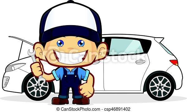 rendbehozás, szerelő, autó - csp46891402